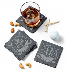 Personalized Keepsake Gifts: Golfer's Personalized Slate Coasters