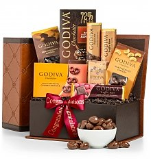 Chocolate & Sweet Baskets: Congratulations Godiva Chocolate Collection
